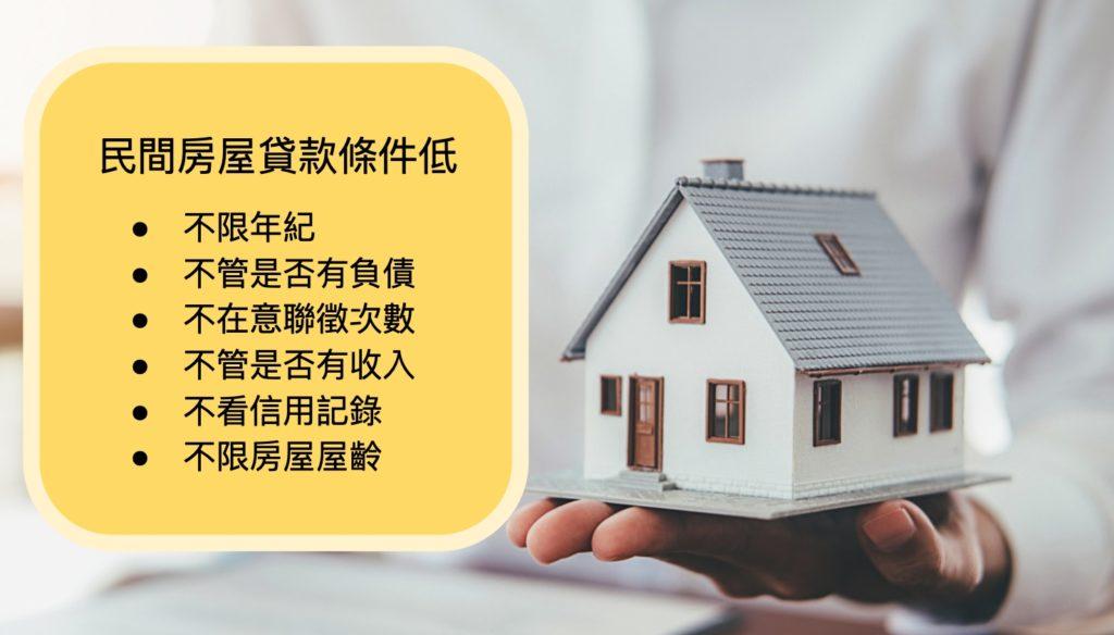 民間房屋融資貸款要求的一般條件